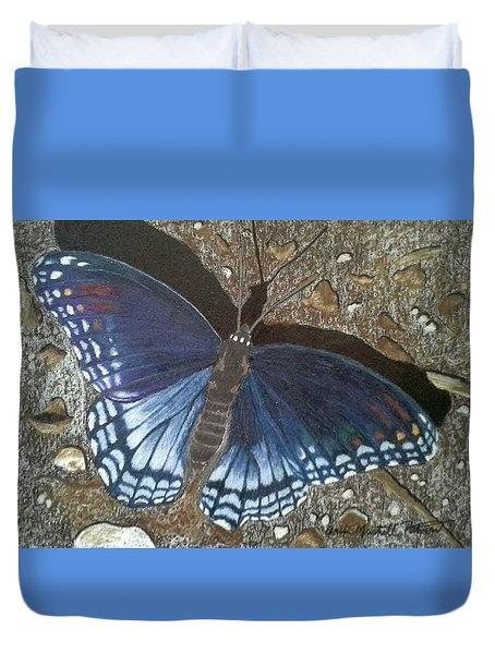 Blue Butterfly - Savannah Charaxes Duvet Cover by Anita Putman