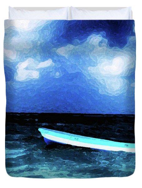 Blue Cancun Duvet Cover