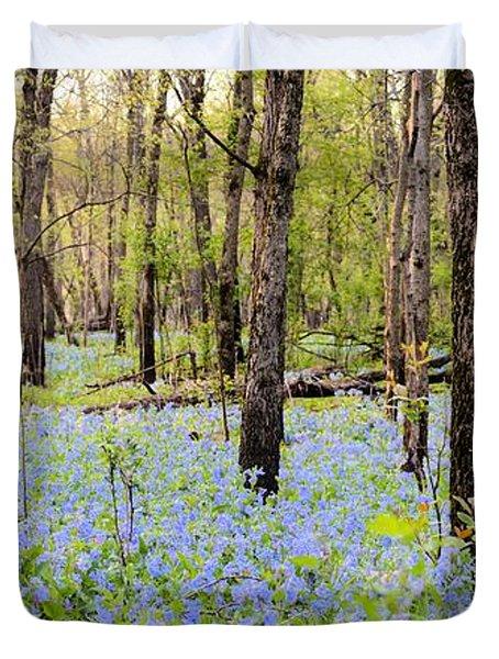 Blue Carpet Duvet Cover