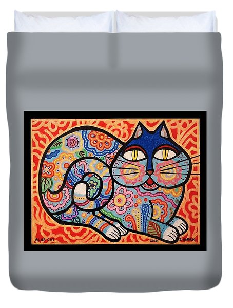 Blue Cat Duvet Cover