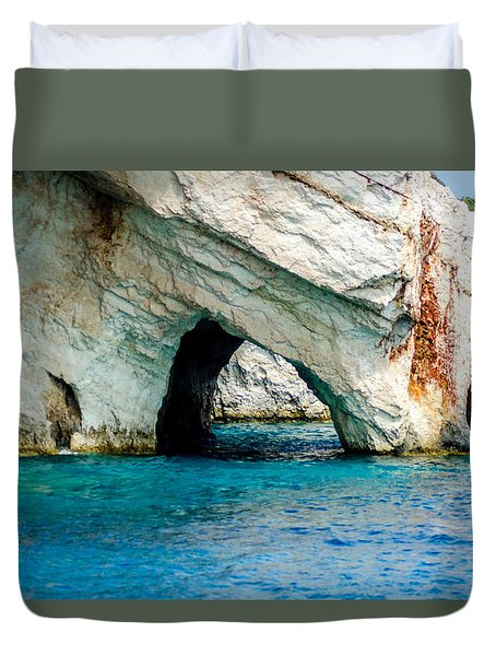 Blue Cave 4 Duvet Cover