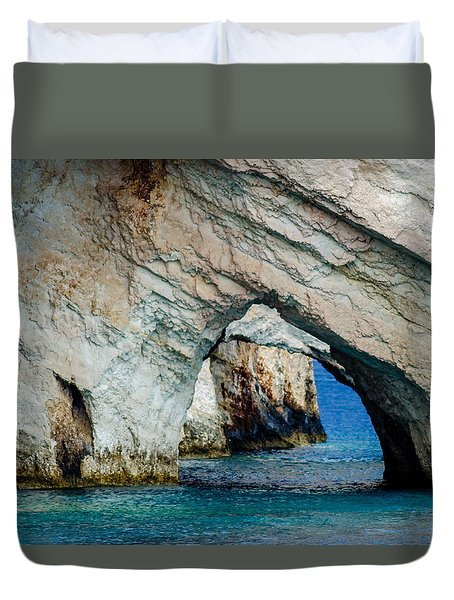 Blue Caves 1 Duvet Cover