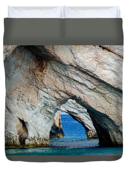 Blue Caves 2 Duvet Cover