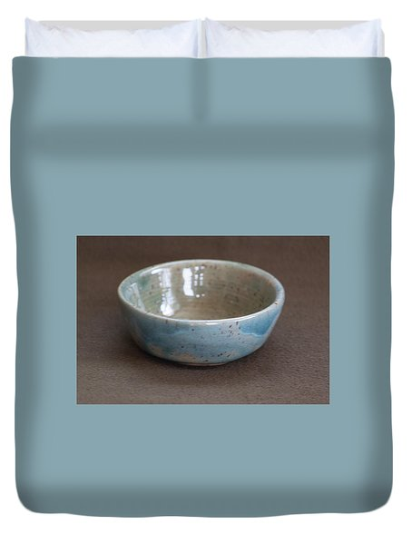 Blue Ceramic Drippy Bowl Duvet Cover by Suzanne Gaff