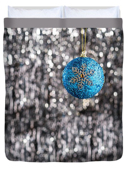 Duvet Cover featuring the photograph Blue Christmas by Ulrich Schade