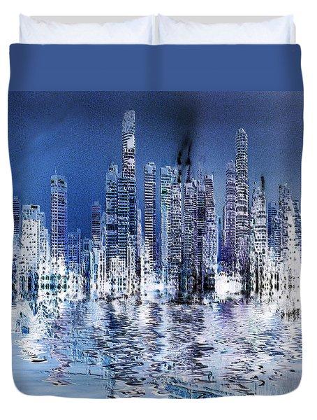 Blue City Duvet Cover by Stuart Turnbull