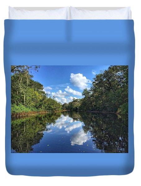 Blue Cloud Reflections  Duvet Cover
