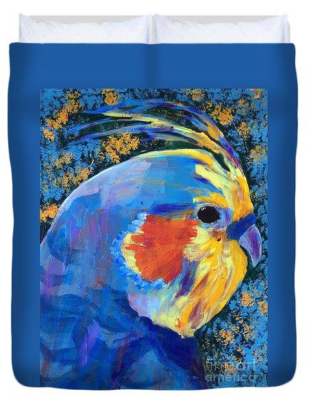 Blue Cockatiel Duvet Cover