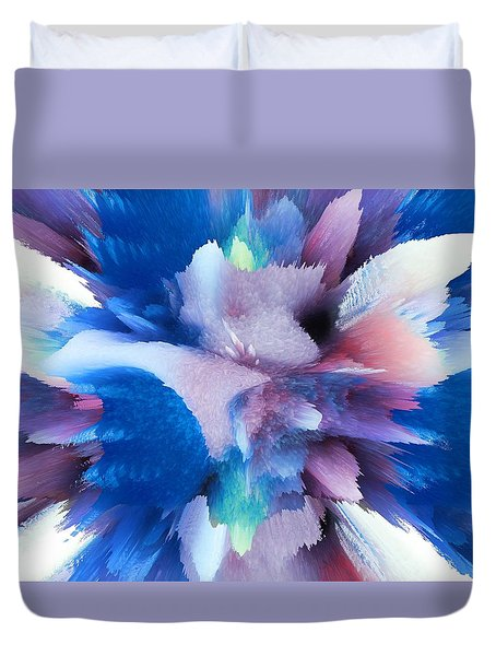Duvet Cover featuring the painting Blue Colors by Robert Margetts