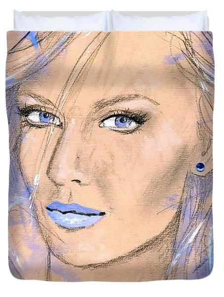 Blue Confidance Duvet Cover by P J Lewis