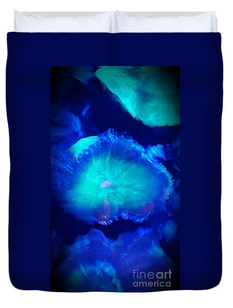 Blue Coral Duvet Cover