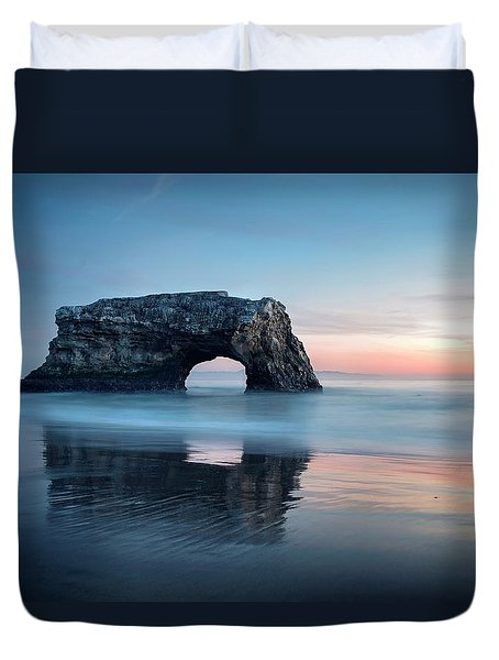 Duvet Cover featuring the photograph Blue Cotton Candy At Dusk by Quality HDR Photography