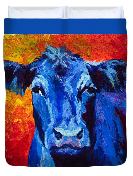 Blue Cow II Duvet Cover