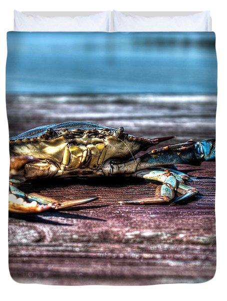 Blue Crab - Big Claws Duvet Cover