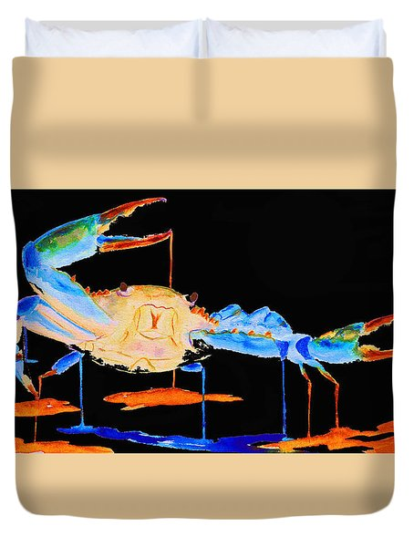 Blue Crab Two Duvet Cover