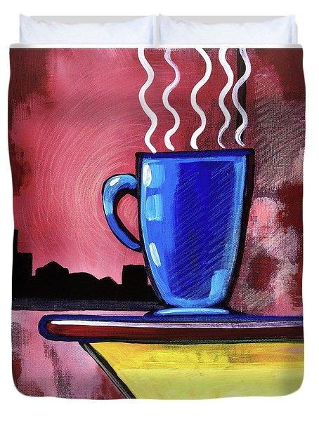 Blue Cup Duvet Cover