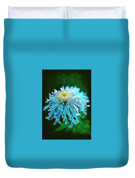 Blue Dahlia Duvet Cover