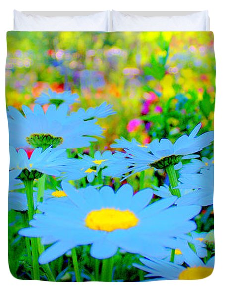 Blue Daisy Duvet Cover by Terence Morrissey