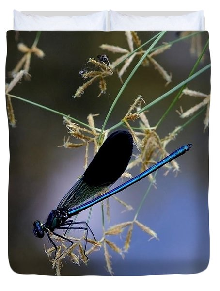 Blue Damsfly Duvet Cover