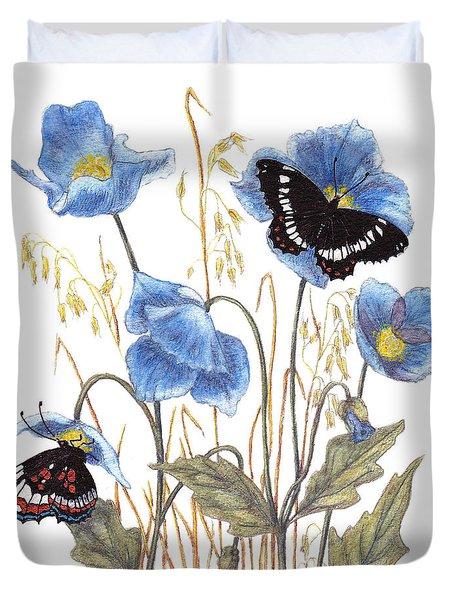 Blue-day Butterfly Duvet Cover