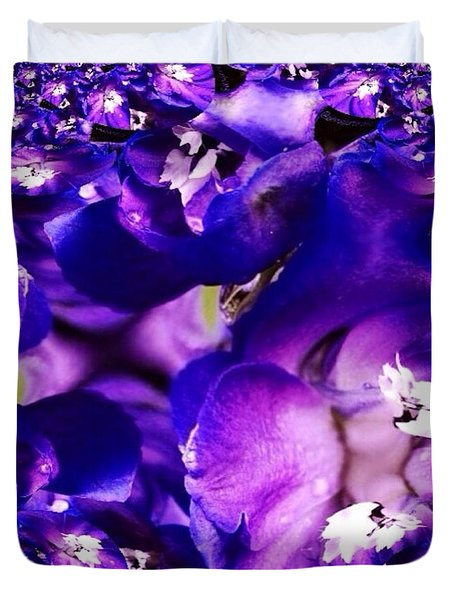Blue Delphinium Abstracted Duvet Cover