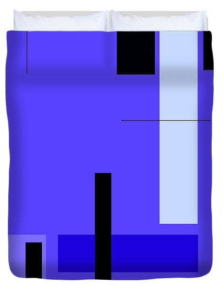 Blue Design 1 Vertical Duvet Cover