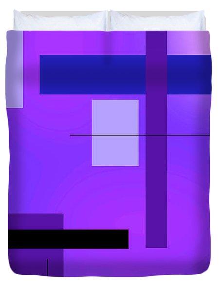 Blue Design 2 Vertical  Duvet Cover
