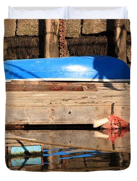 Blue Dingy Duvet Cover