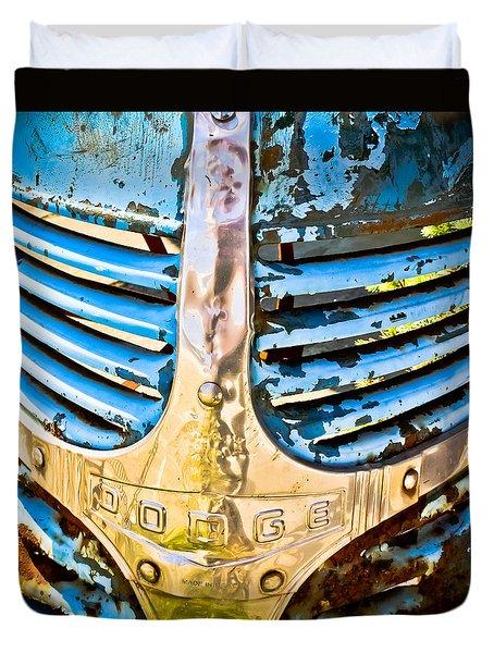 Blue Dodge - Grab Life Duvet Cover by Colleen Kammerer