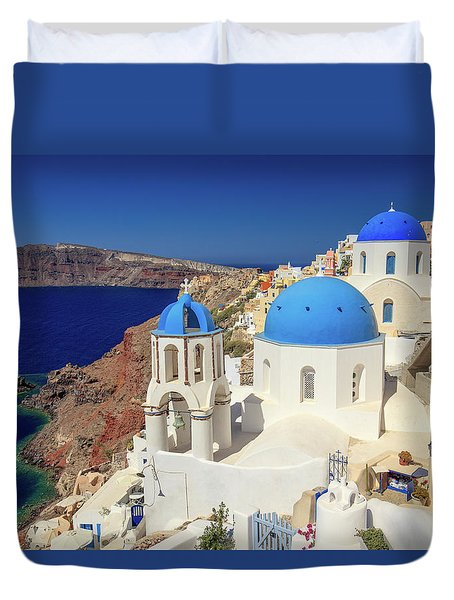 Blue Domed Churches Duvet Cover