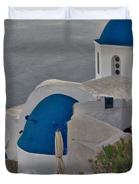 Blue Domes Duvet Cover