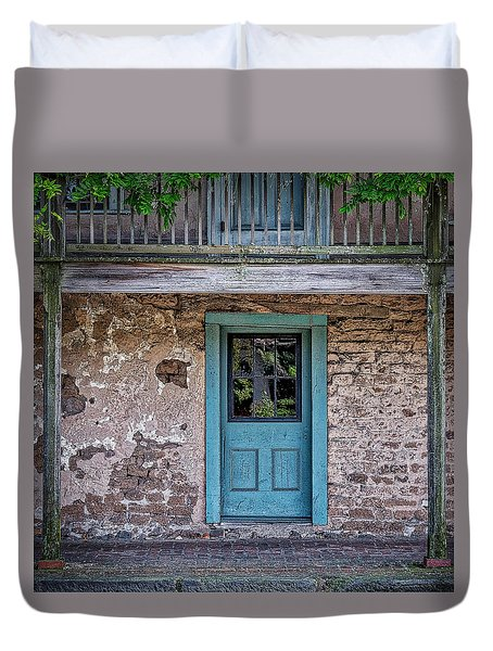 Blue Door Duvet Cover by Jerry Golab