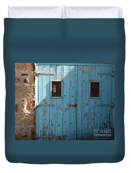 Blue Doors Duvet Cover