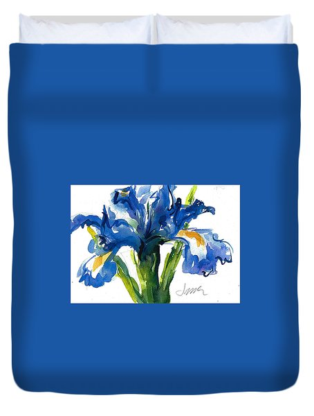 Blue Dutch Iris For Kappa Kappa Gamma Duvet Cover