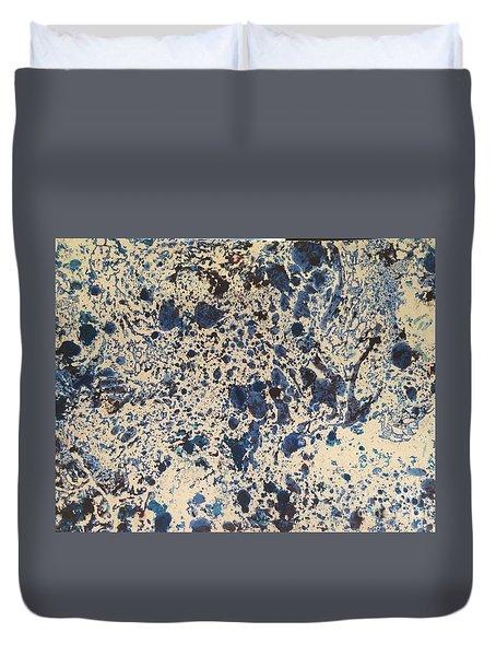 Blue Ecru Duvet Cover