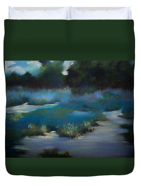 Blue Eden Duvet Cover by Marika Evanson