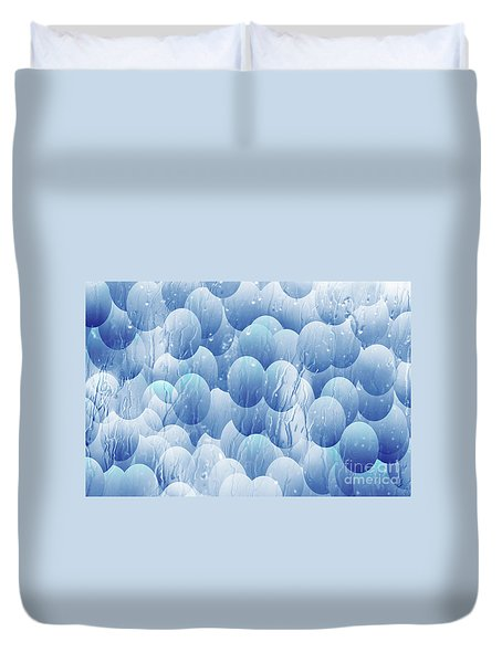 Duvet Cover featuring the photograph Blue Eggs - Abstract Background by Michal Boubin