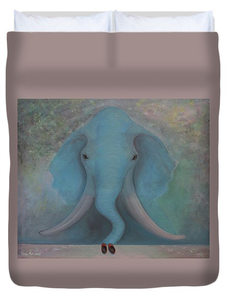 Blue Elephant Duvet Cover by Tone Aanderaa