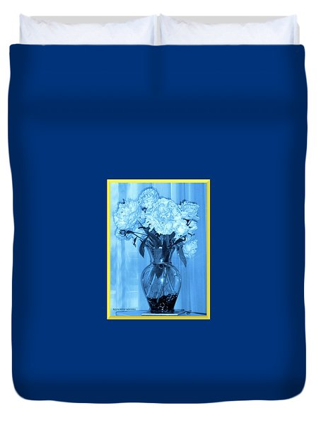 Duvet Cover featuring the photograph Blue by Elly Potamianos