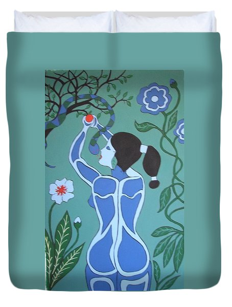 Blue Eve No. 1 Duvet Cover