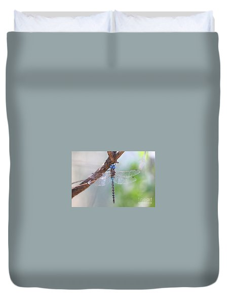 Duvet Cover featuring the photograph Blue-eyed Darner by Ruth Jolly