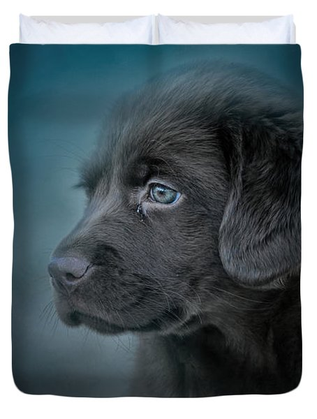 Blue Eyed Puppy Duvet Cover