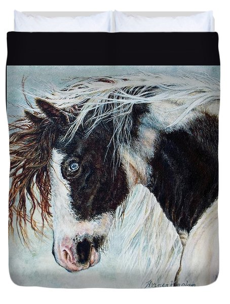 Blue Eyed Storm Duvet Cover