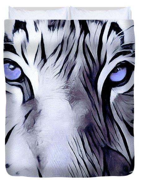 Blue Eyed Tiger Duvet Cover
