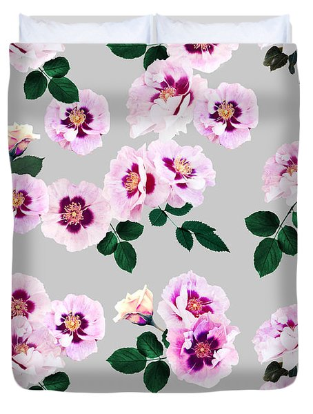 Blue Eyes Roses Duvet Cover