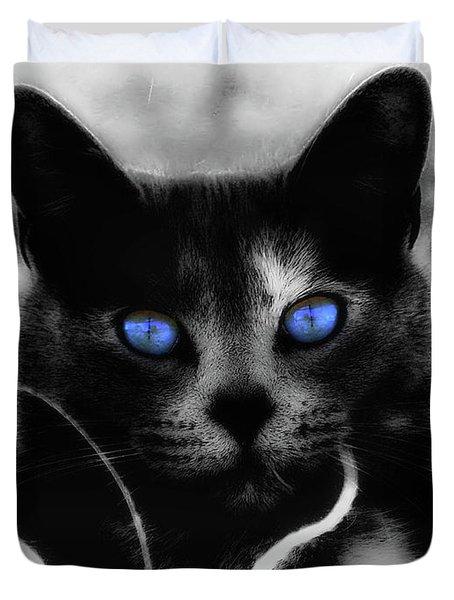 Blue Eyes Duvet Cover by Yvonne Emerson AKA RavenSoul