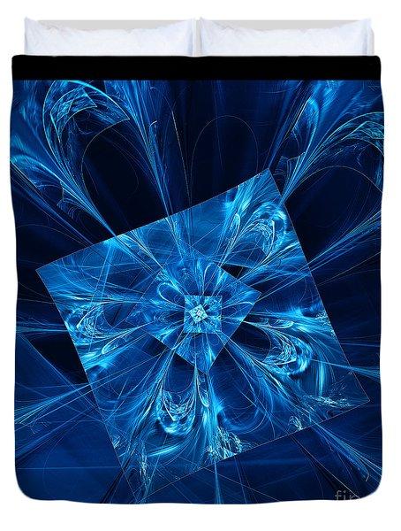 Duvet Cover featuring the digital art Blue Fancy by Victoria Harrington