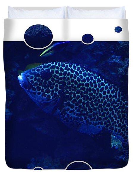 Blue Fish Duvet Cover by Carol Groenen