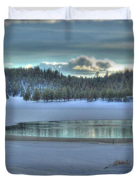 Blue Flagstaff  Duvet Cover