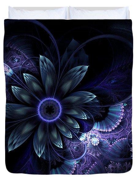 Blue Fleur And Lace Duvet Cover